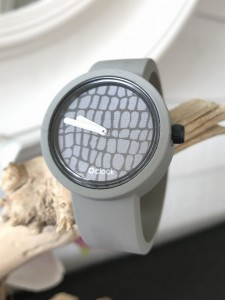 O Clock - Light Grey Licht Grijs Strap - O Clock Safari Cocodrillo