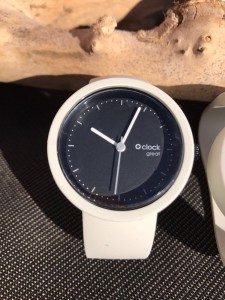 O Clock Great - Bianco wit Strap - Black Nero Clock
