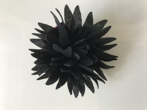 JU'STO-J-FLOWER-Small-Mini-Fiori-Nero-Black-Zwart