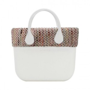 O Bag Mini - Wool Mixed Trims Chanel met rits Pink