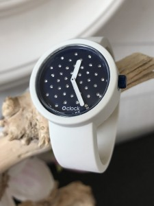 O Clock - Bianco White Wit Strap - O Clock Crystal Ocean