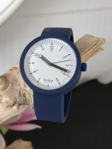 O Clock -  Dark Blue Oceano Strap - O Clock 60sec Blue/White