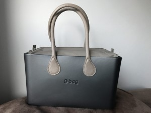 O City Grafite - Nylon Binnentas Naturale - Long handles Dove