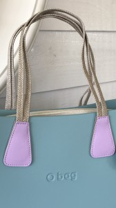 O Bag short handles Doppia Treccia Eco Leather Pink/Dove Taupe