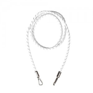 JU'STO - Braided-Shoulder-Strap-Ecoleather-White-Tracolla-Ecopelle-Bianco-Wit