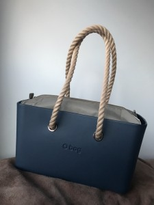 O City Blu Navi - Nylon Binnentas Naturale - Long Handles Rope Naturale